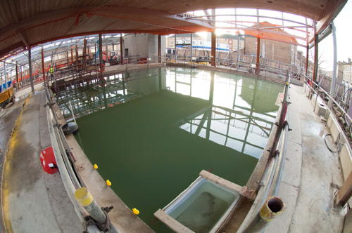 New swimming pools at Castle centre put to the test