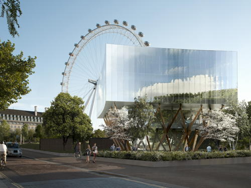 Shell Centre sales pavilion proposed next to Jubilee Gardens