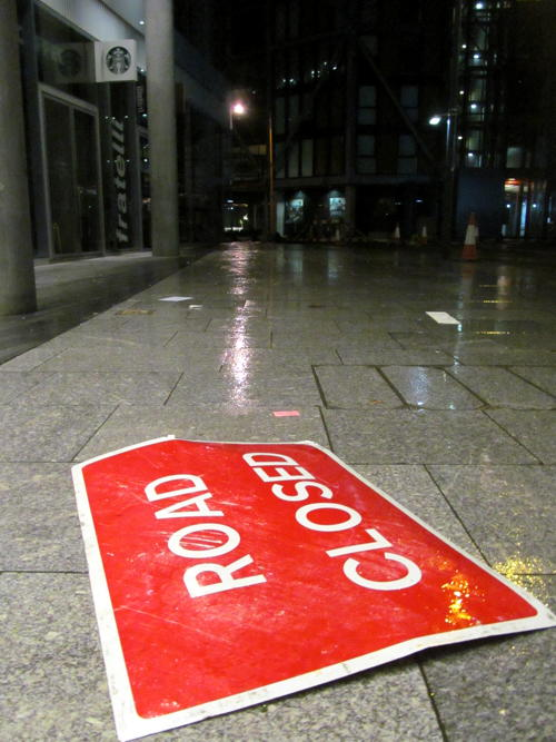 Southwark Street shut overnight after storm damage at RBS offices