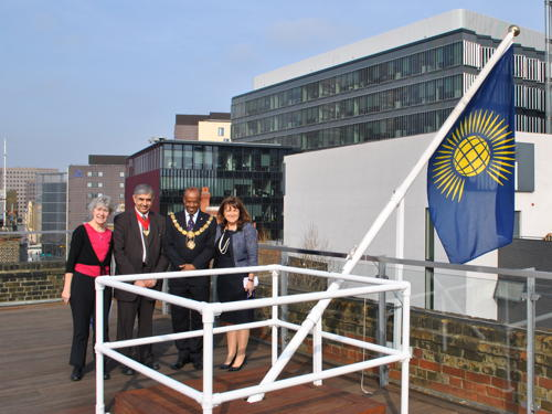Commonwealth flag raised at Tooley Street and City Hall