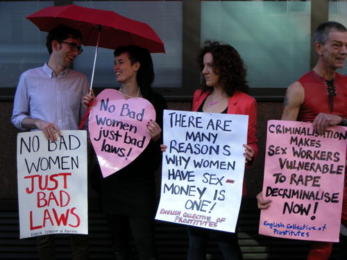 Sex workers join counter-protest against anti-porn conference in Blackfriars Road