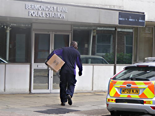 'Bermondsey Lane Police Station' appears in Trinity Street