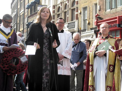 Borough High Street war memorial rededicated