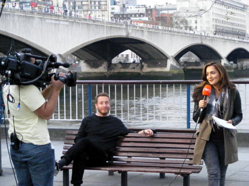 London Live TV channel launches with South Bank outside broadcast