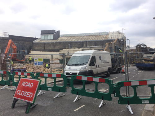 Rushworth Street closed due to fears over unsafe wall