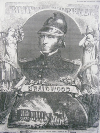 James Braidwood statuette placed in Tooley Street's Brigade