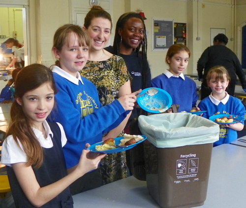 Bermondsey primary school pupils learn to recycle food waste