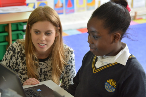 Princess Beatrice visits Globe Academy