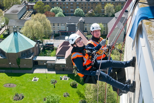 Avondale Square abseilers raise hundreds for local charity