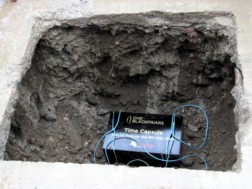 Time capsule buried at One Blackfriars skyscraper building site