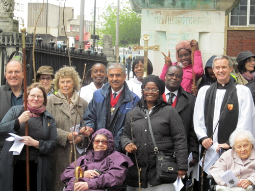 Beating the bounds of Waterloo: MPs and councillors join St John's congregation