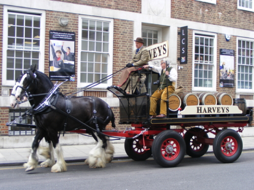 Harvey's horses and dray visit Southwark