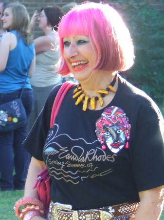 Zandra Rhodes at the Bermondsey Street Festival