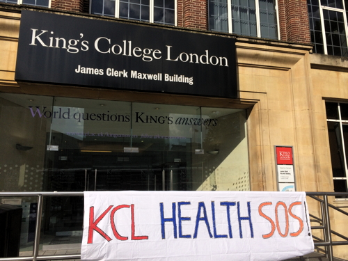 Protests mount over King's College London academic job cuts
