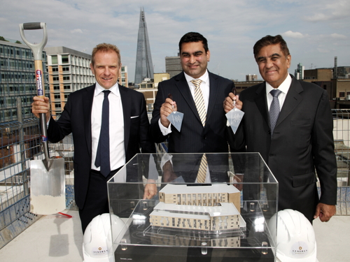 Hilton London Bankside hotel 'topped out'