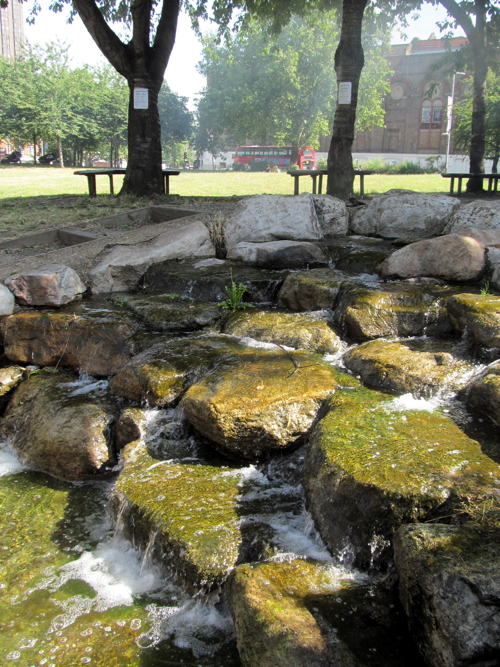 Waterloo Millennium Green water feature restored