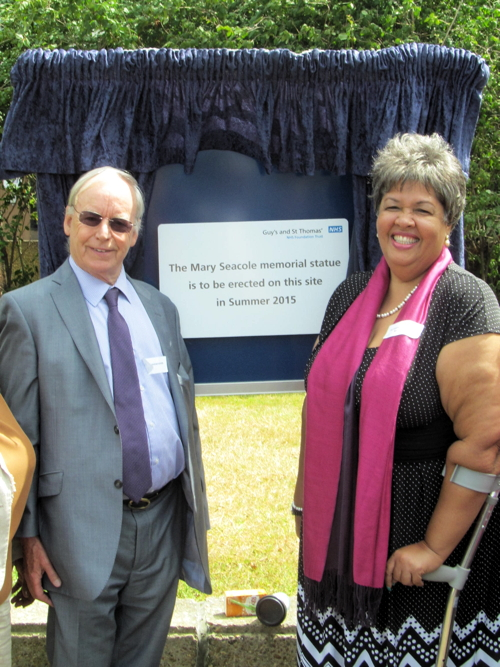 Dedication ceremony held at future site of Mary Seacole statue