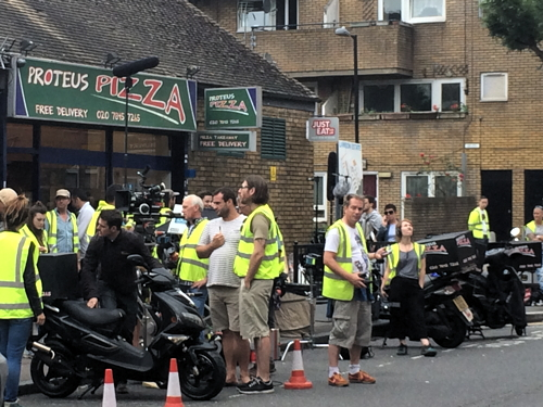 'The Interceptor' filming in Bartholomew Street