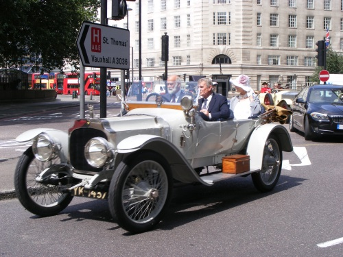 Car rally and church services recall declaration of Great War