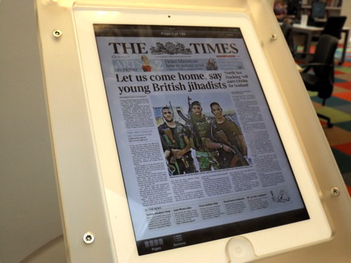 Times and Sun publisher donates tablet computers to libraries