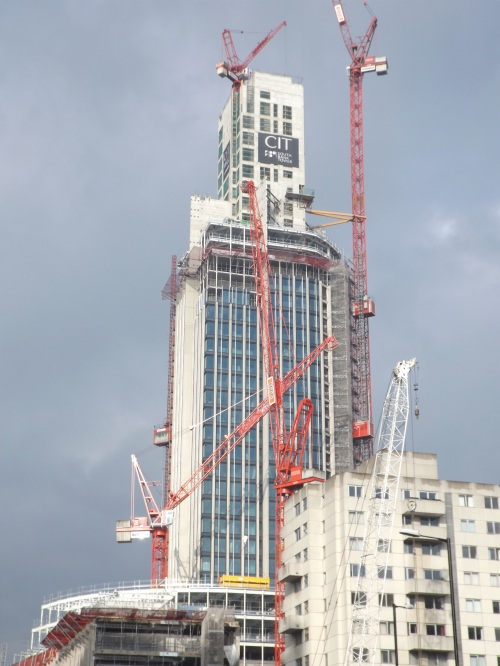 Topping out ceremony at South Bank Tower
