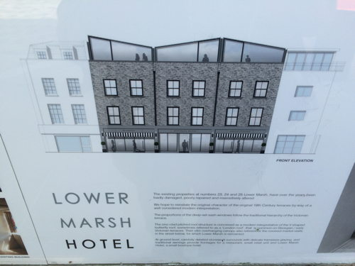 'Boutique hotel' proposed for Lower Marsh