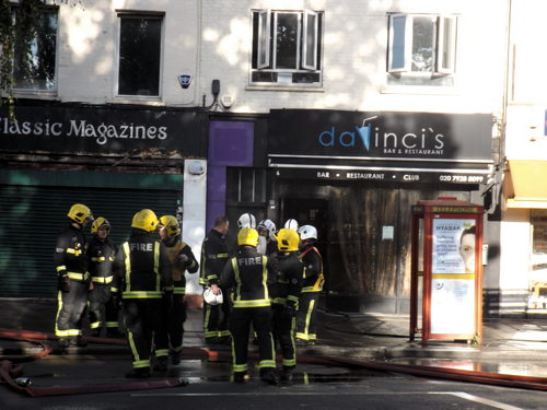 Fire at Da Vinci's club in Baylis Road