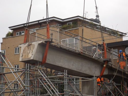 New Kent Road footbridge demolished