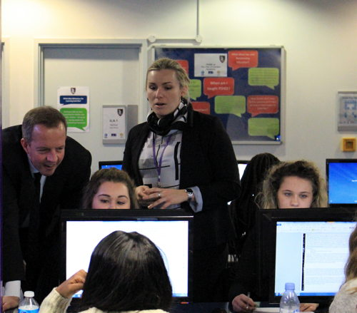 Skills minister Nick Boles visits City of London Academy