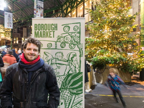 Borough Market Christmas lights switched on