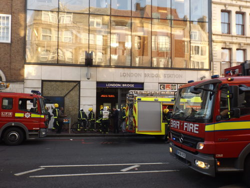 Firefighters tackle small blaze at London Bridge Tube Station