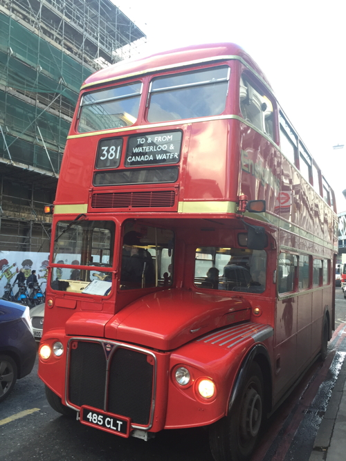 Routemaster buses drafted in to route 381 during bus strike