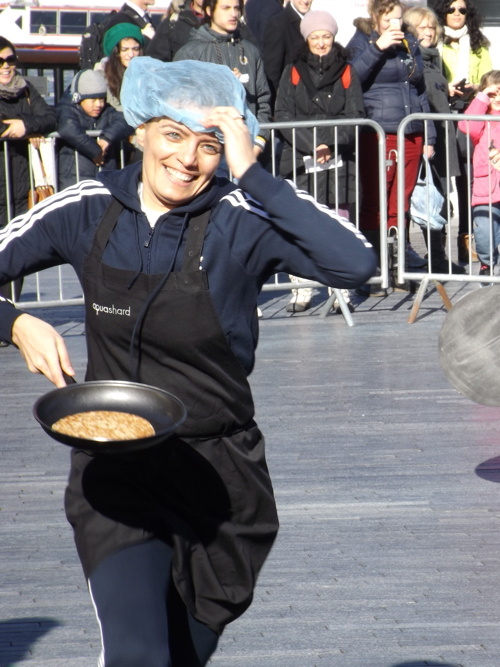 Local firms compete in pancake races at Borough Market and More London