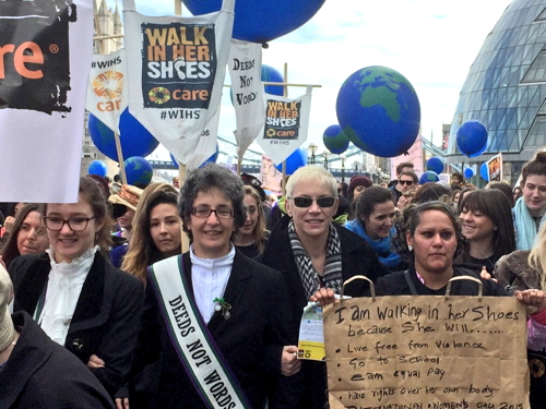 Pankhursts lead International Women's Day walk along SE1 riverside