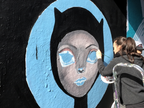 Female street artists take over Leake Street tunnel