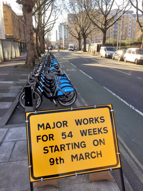 54 weeks of roadworks while new cycle superhighway is built