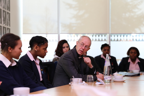 Archbishop of Canterbury visits St Saviour's & St Olave's School