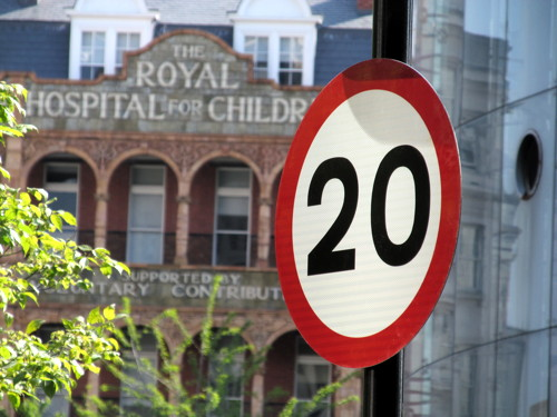 20 mph speed limit from Westminster Bridge to Southwark Street
