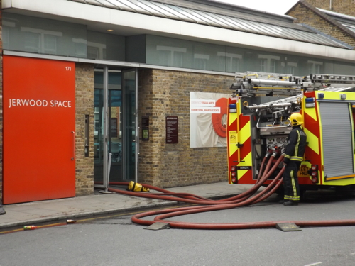 Fire at Jerwood Space in Union Street