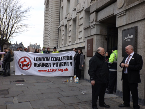Protests as council leader speaks at £90-a-head developers' breakfast