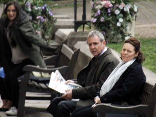 Neil Morrissey and Olivia Colman