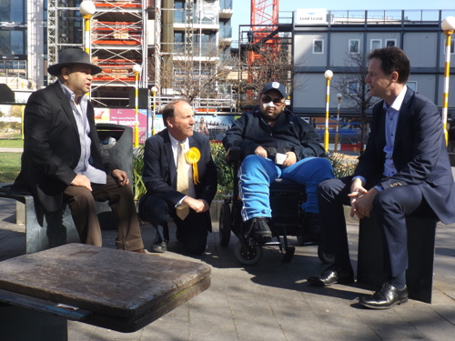 Nick Clegg visits Elephant & Castle with Simon Hughes