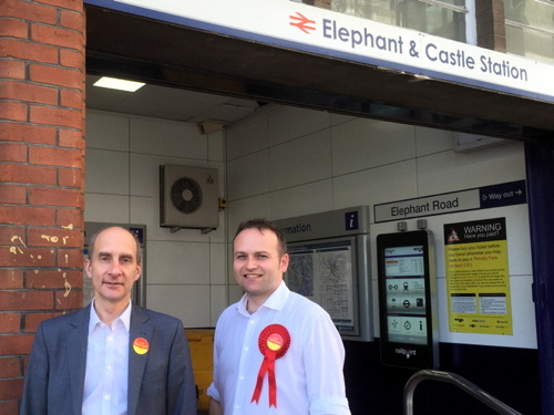 Labour's Lord Adonis talks transport at Elephant & Castle