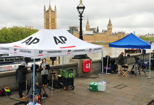 World's media descend on Southwark and Lambeth to cover election