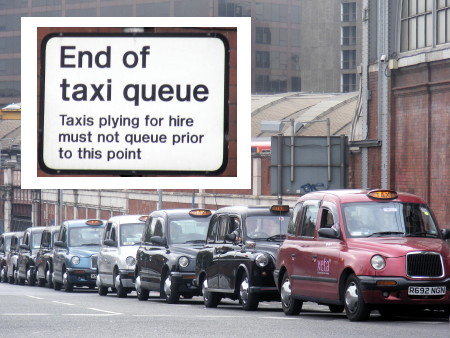Taxi drivers to be urged to switch off engines at Waterloo