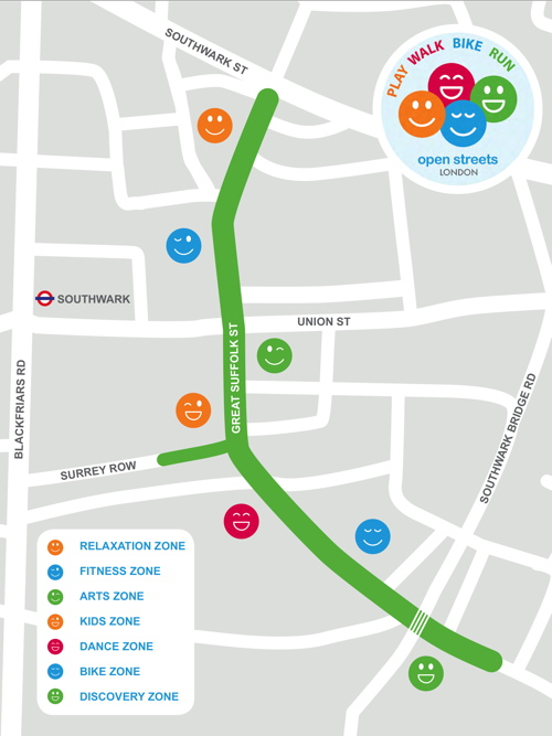 Great Suffolk Street to host London's first Open Streets event