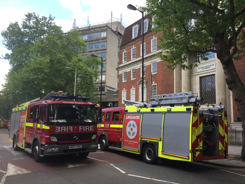 Fire at London South Bank University
