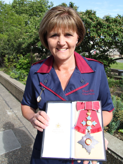 Dame Eileen Sills: SE1 chief nurse invested at Buckingham Palace