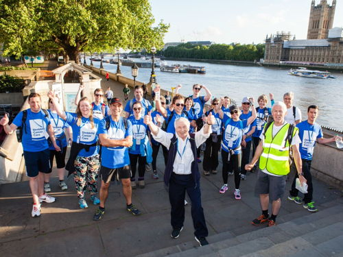 Jonathan Dimbleby leads 50km walk to raise funds for cancer charity