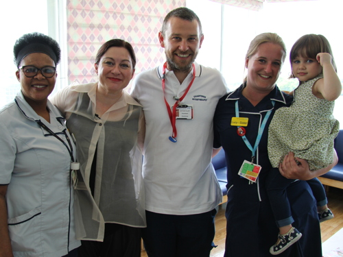 7/7 survivor Gill Hicks returns to St Thomas' Hospital